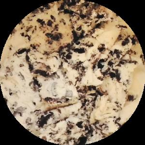 Cookies and Cream: Vanilla ice cream with Oreo pieces