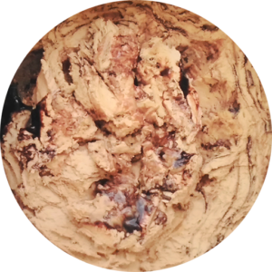 Mocha Almond Fudge: coffee ice cream with almonds and a fudge swirl